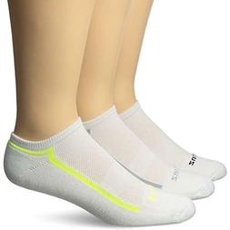 Balega Zulu No Show Socks  , White/Grey/Yellow, X-Large